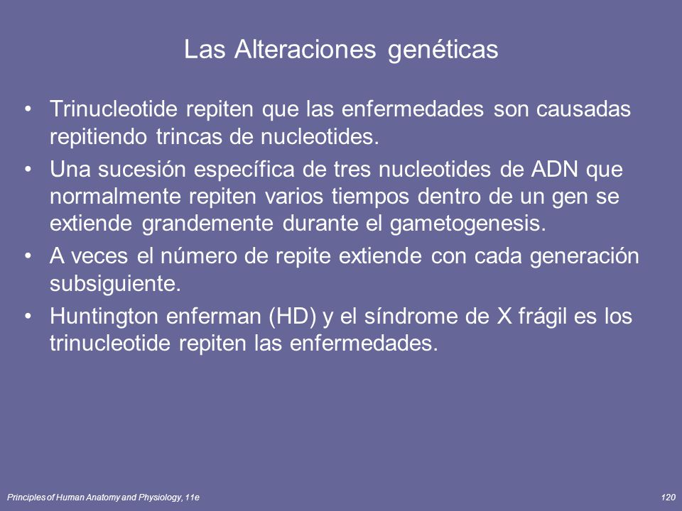 Las Alteraciones genéticas