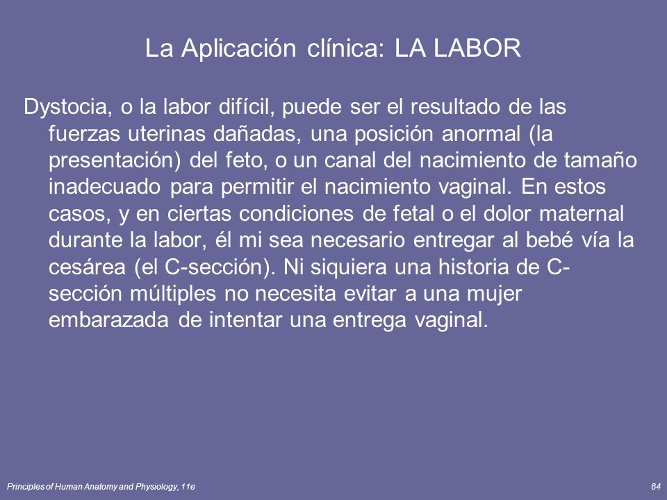 La Aplicación clínica: LA LABOR