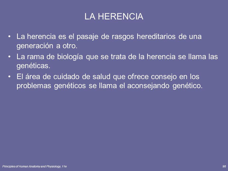 LA HERENCIA La herencia es el pasaje de rasgos hereditarios de una generación a otro.