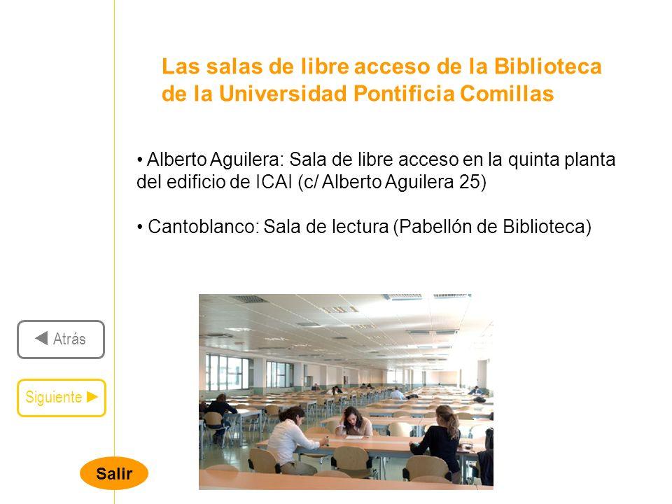 Las salas de libre acceso de la Biblioteca de la Universidad Pontificia Comillas