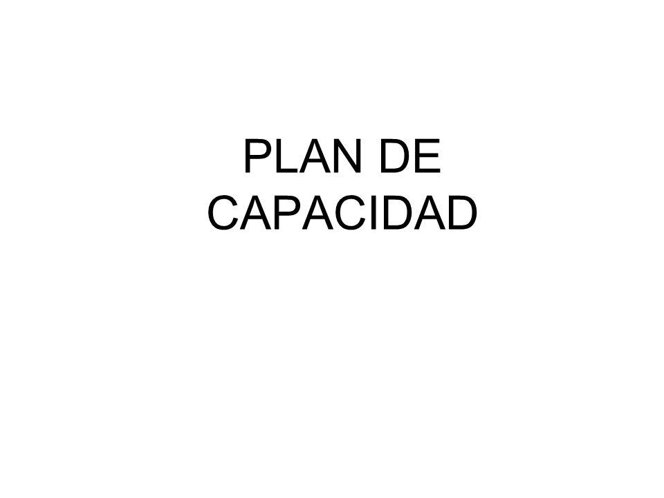 PLAN DE CAPACIDAD