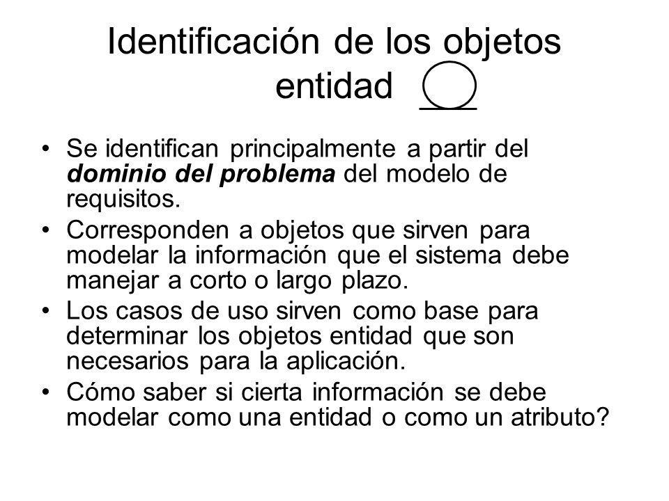 Identificación de los objetos entidad
