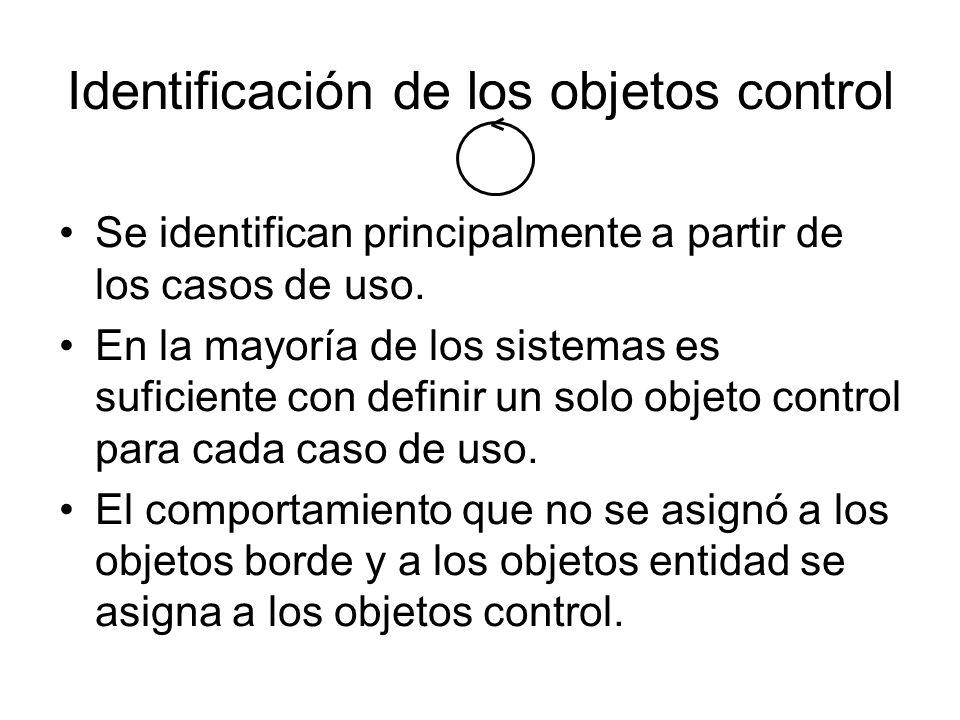 Identificación de los objetos control