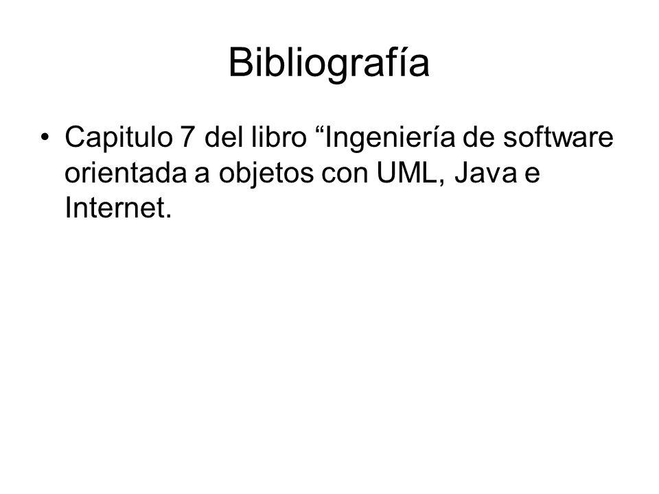 Bibliografía Capitulo 7 del libro Ingeniería de software orientada a objetos con UML, Java e Internet.