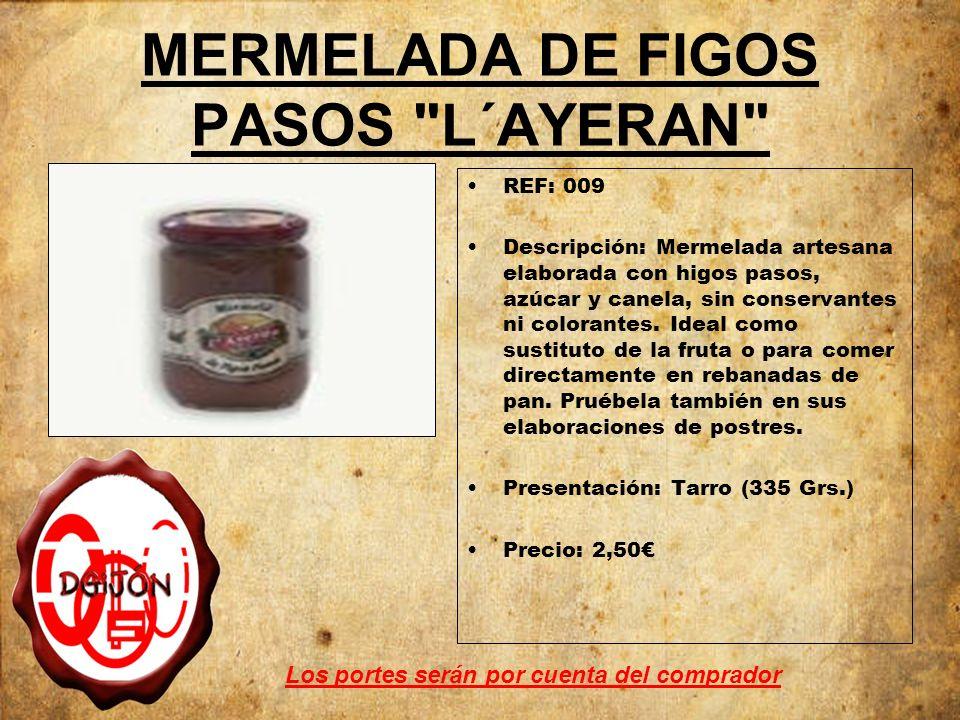 MERMELADA DE FIGOS PASOS L´AYERAN