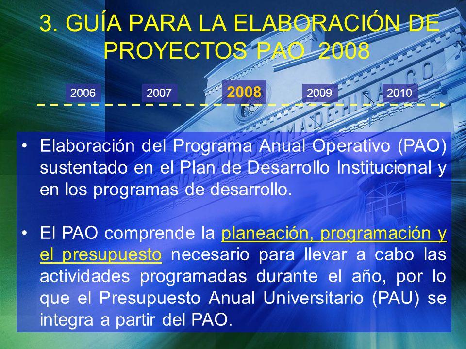 3. GUÍA PARA LA ELABORACIÓN DE PROYECTOS PAO 2008