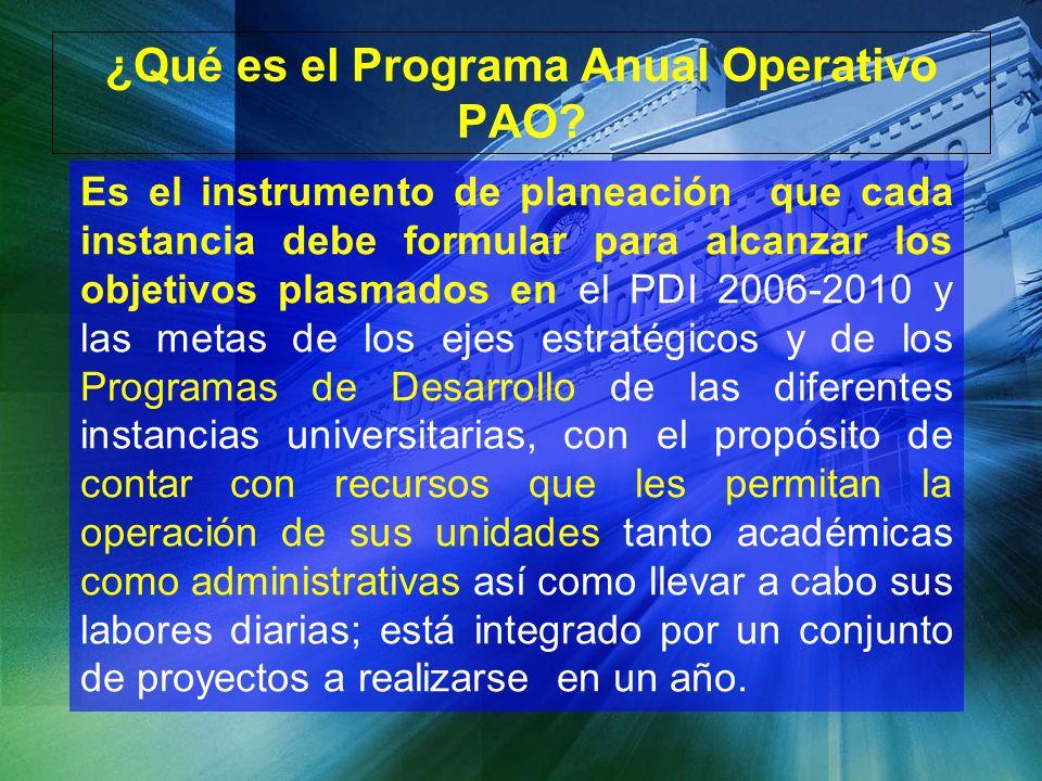 ¿Qué es el Programa Anual Operativo PAO