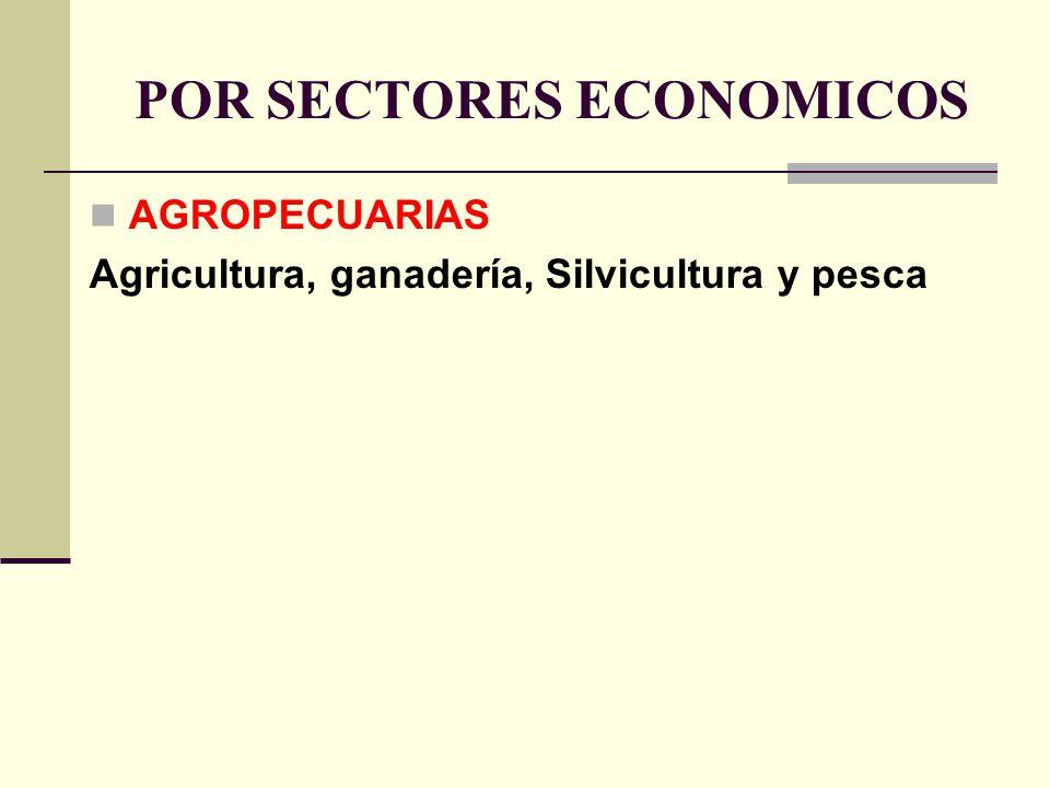 POR SECTORES ECONOMICOS