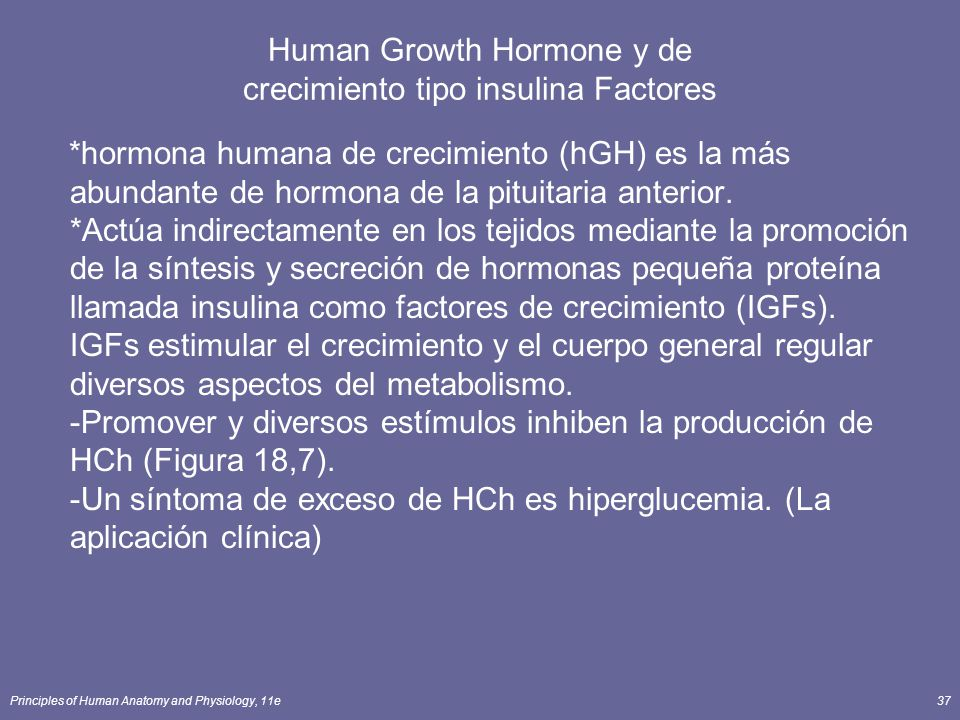 Human Growth Hormone y de crecimiento tipo insulina Factores