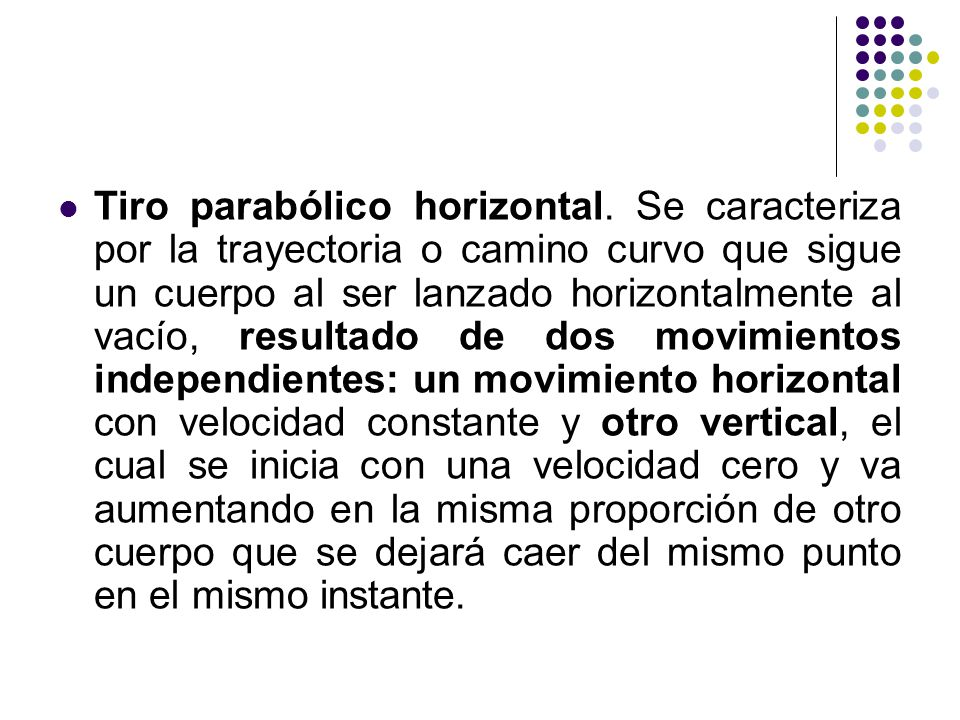 Tiro parabólico horizontal