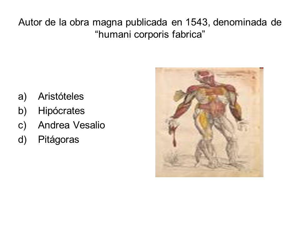 Autor de la obra magna publicada en 1543, denominada de humani corporis fabrica