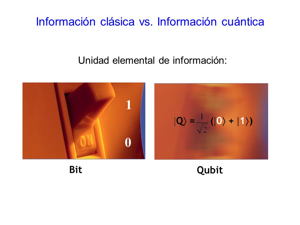 Información clásica vs. Información cuántica