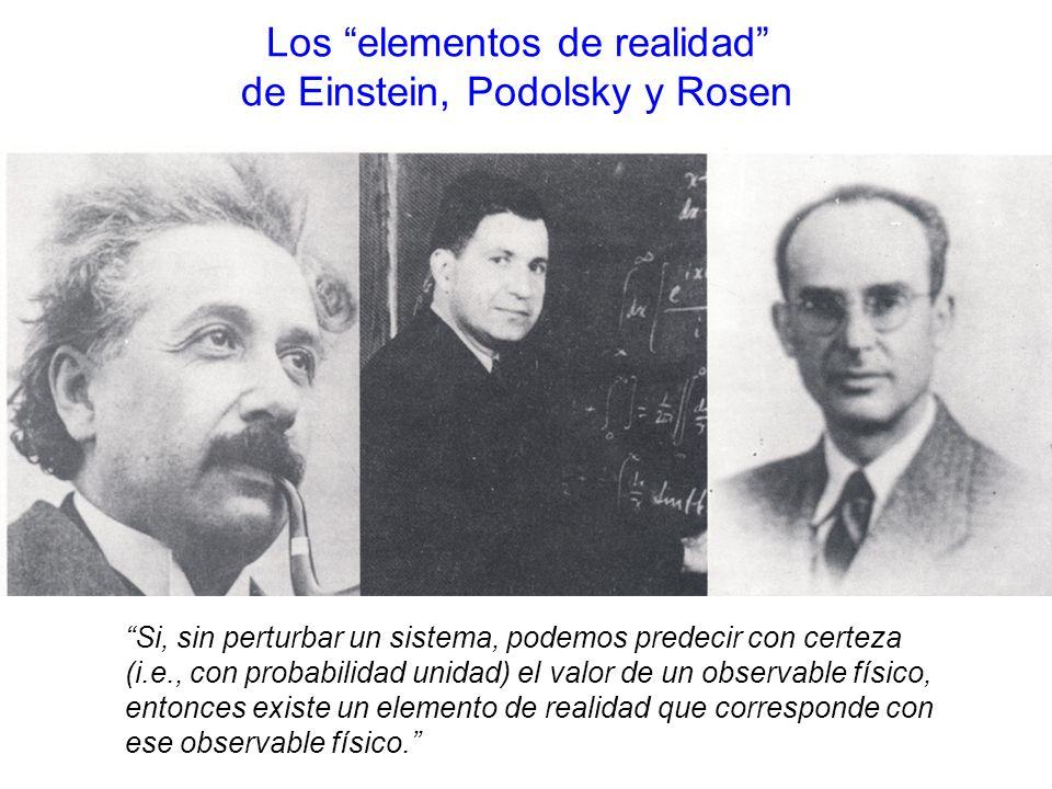 Los elementos de realidad de Einstein, Podolsky y Rosen