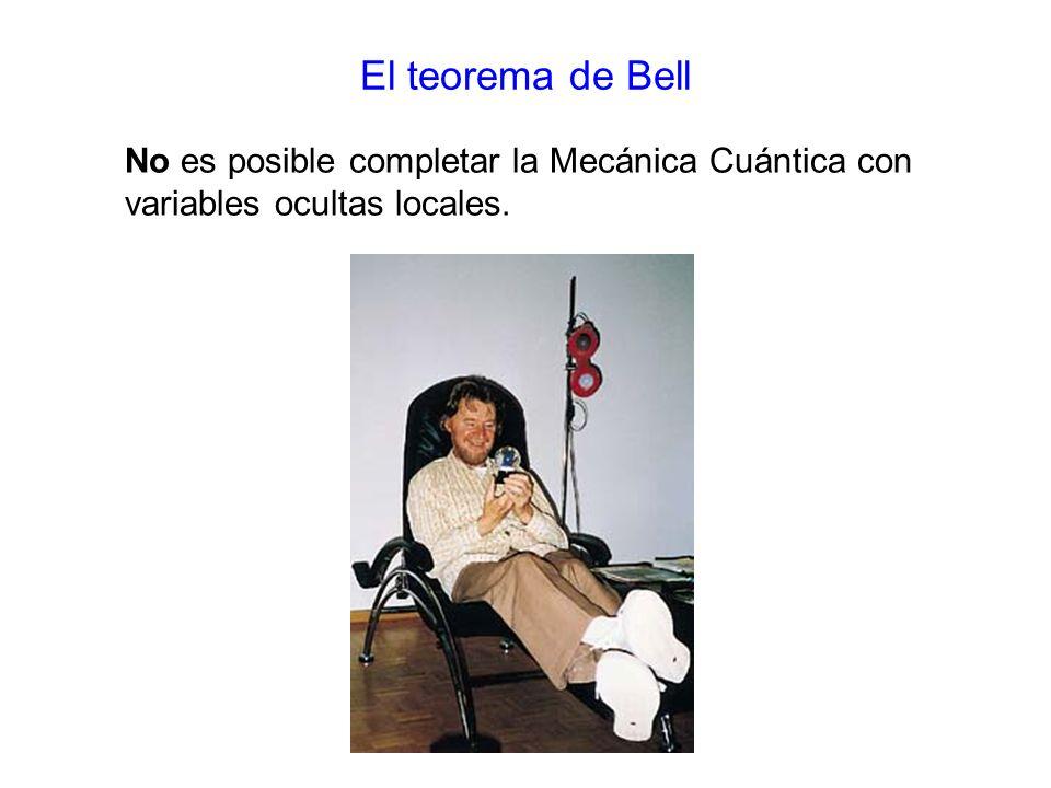 El teorema de Bell No es posible completar la Mecánica Cuántica con variables ocultas locales.