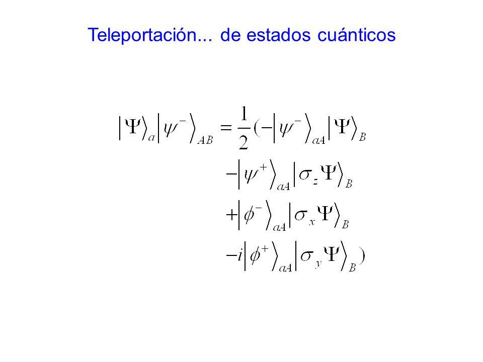 Teleportación... de estados cuánticos