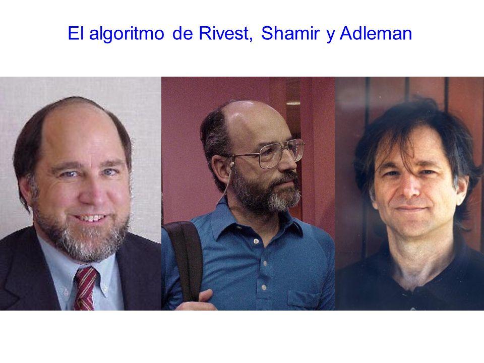 El algoritmo de Rivest, Shamir y Adleman
