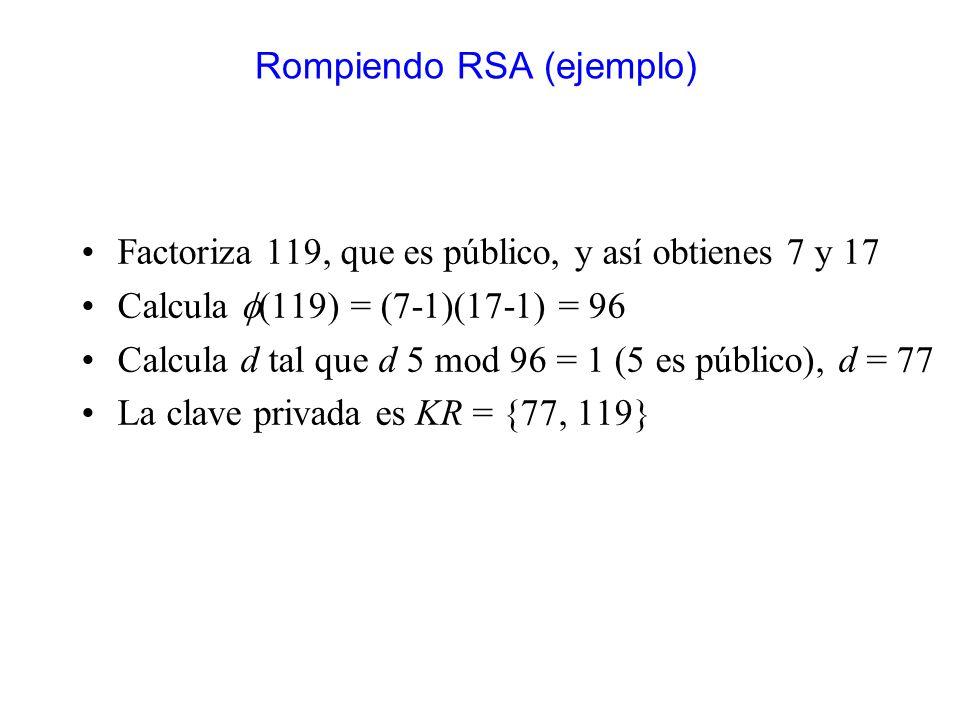 Rompiendo RSA (ejemplo)
