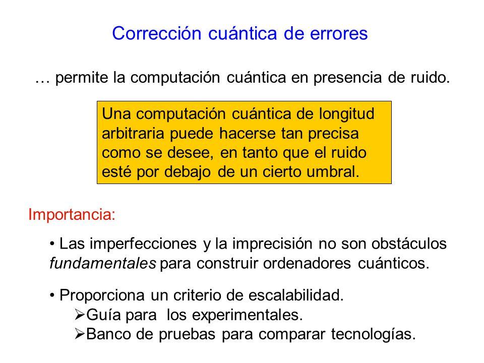 Corrección cuántica de errores
