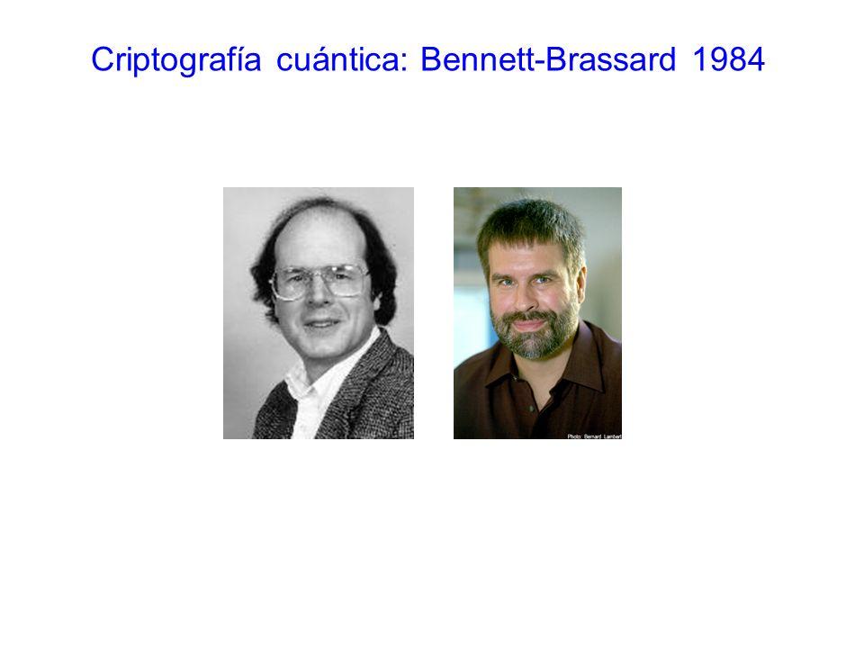 Criptografía cuántica: Bennett-Brassard 1984