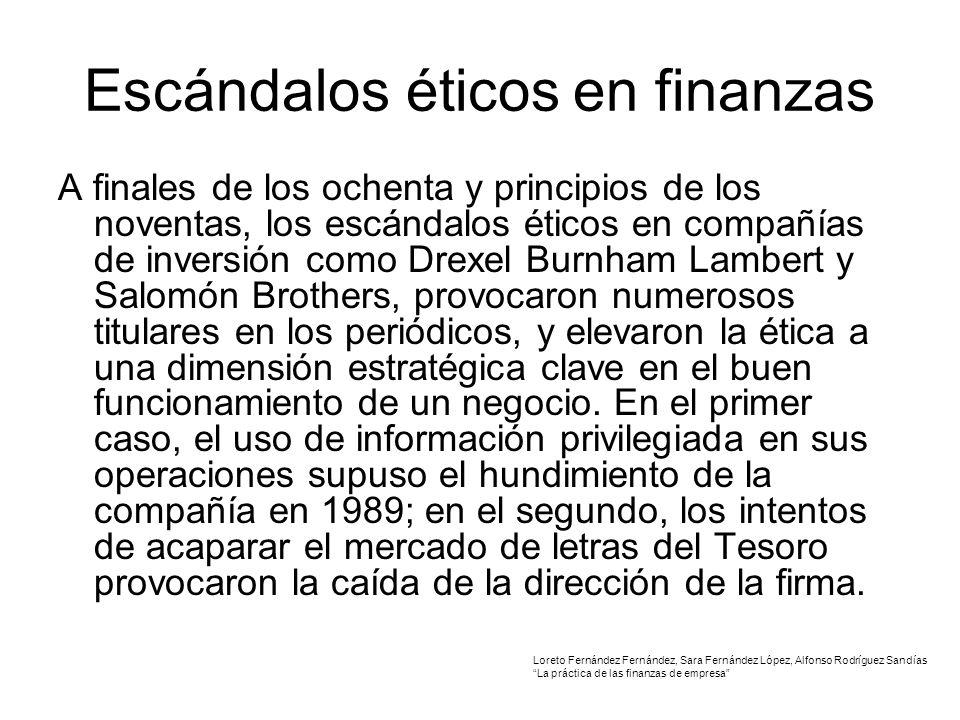 Escándalos éticos en finanzas