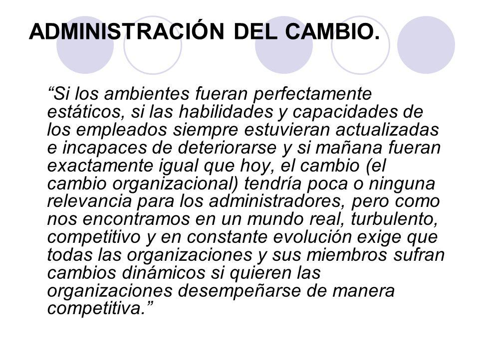 ADMINISTRACIÓN DEL CAMBIO.