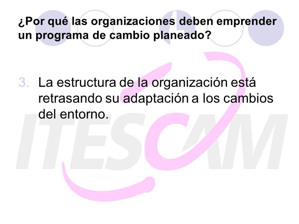 ¿Por qué las organizaciones deben emprender un programa de cambio planeado