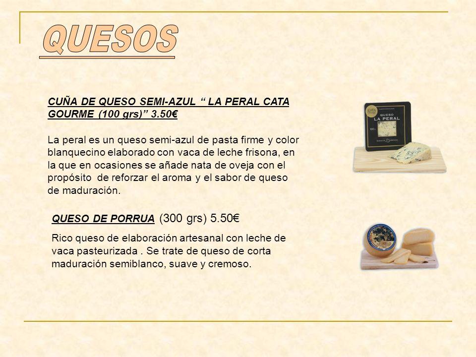 QUESOS CUÑA DE QUESO SEMI-AZUL LA PERAL CATA GOURME (100 grs) 3.50€