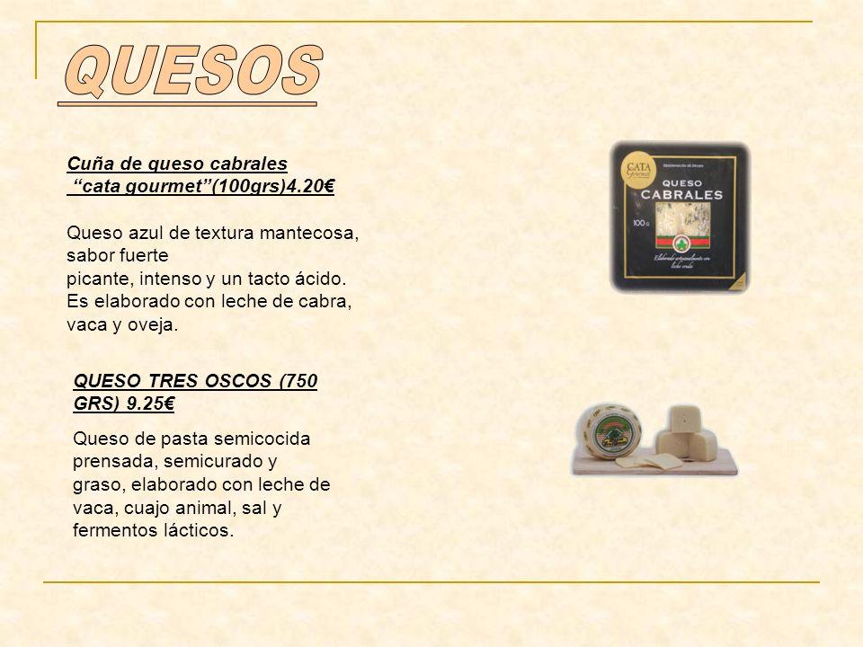 QUESOS Cuña de queso cabrales cata gourmet (100grs)4.20€