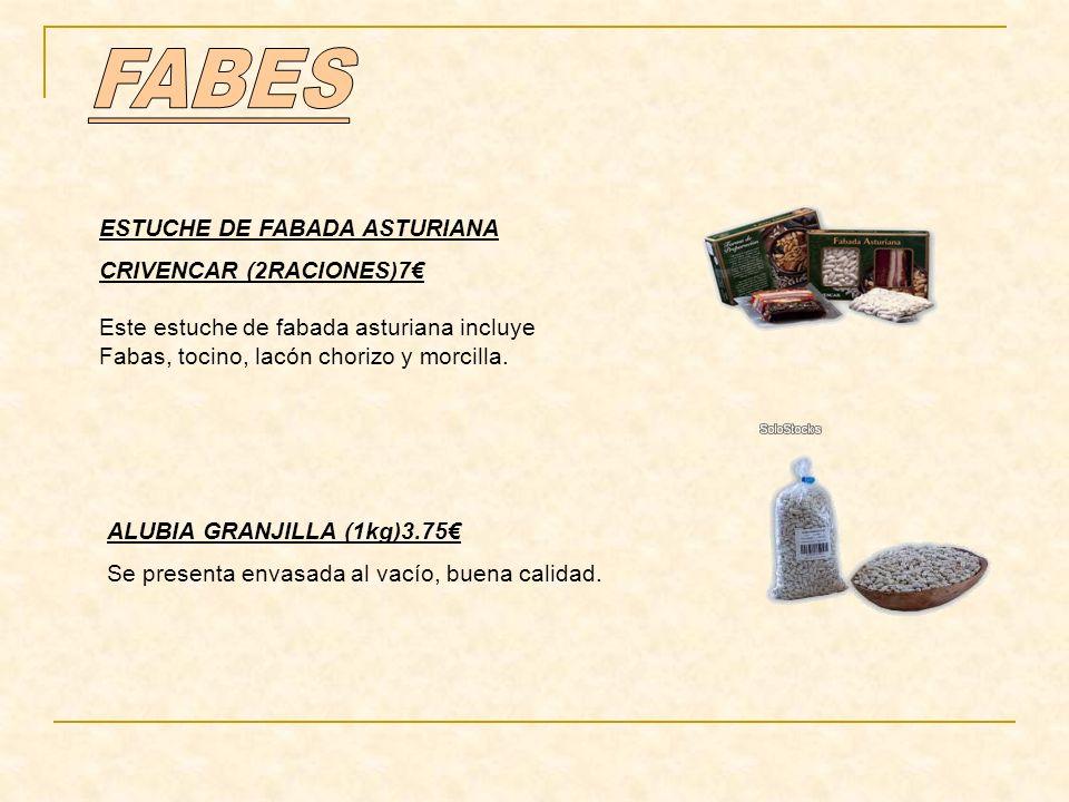 FABES ESTUCHE DE FABADA ASTURIANA CRIVENCAR (2RACIONES)7€