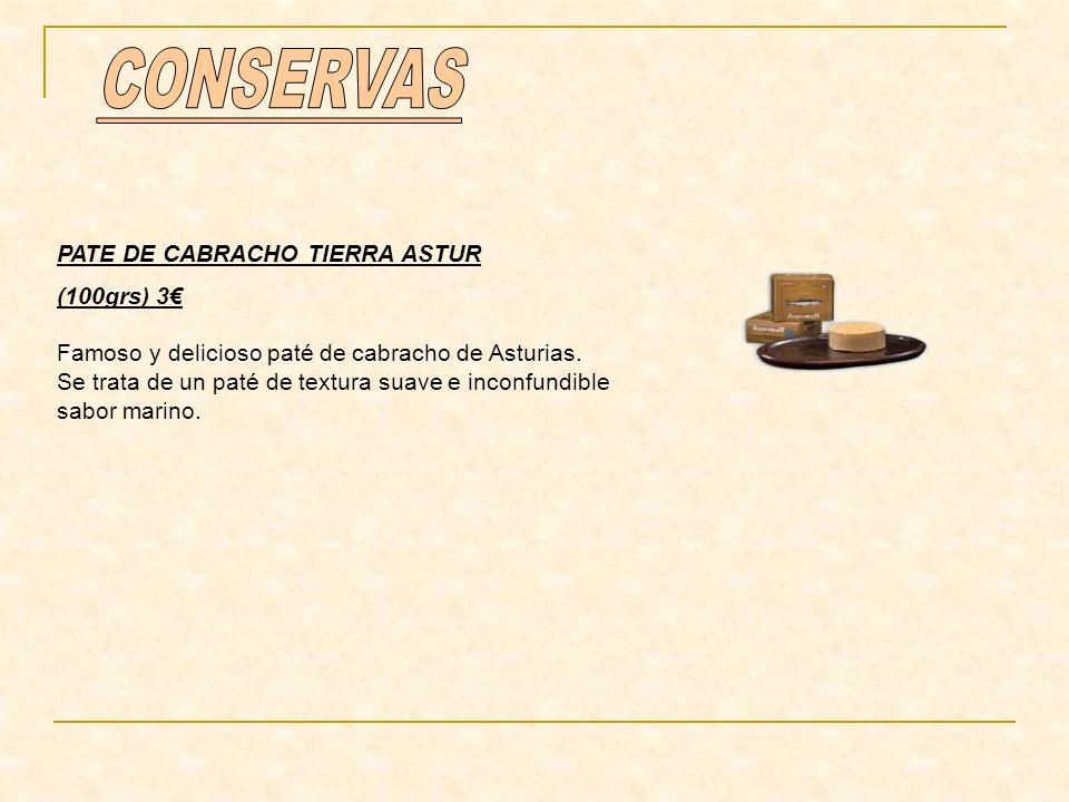 CONSERVAS PATE DE CABRACHO TIERRA ASTUR (100grs) 3€