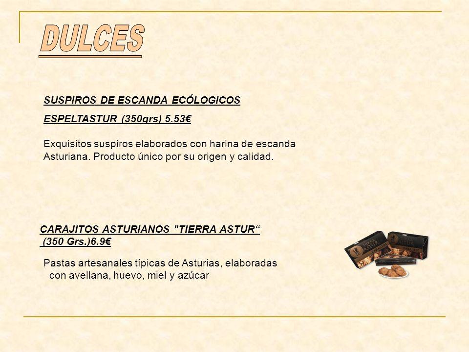 DULCES SUSPIROS DE ESCANDA ECÓLOGICOS ESPELTASTUR (350grs) 5.53€