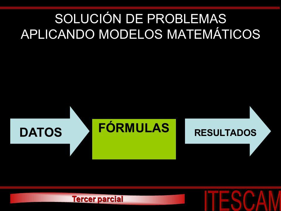 SOLUCIÓN DE PROBLEMAS APLICANDO MODELOS MATEMÁTICOS