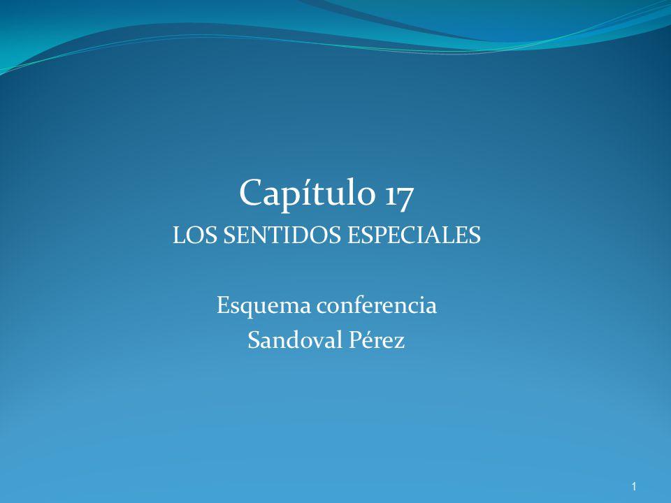 Capítulo 17 LOS SENTIDOS ESPECIALES Esquema conferencia Sandoval Pérez