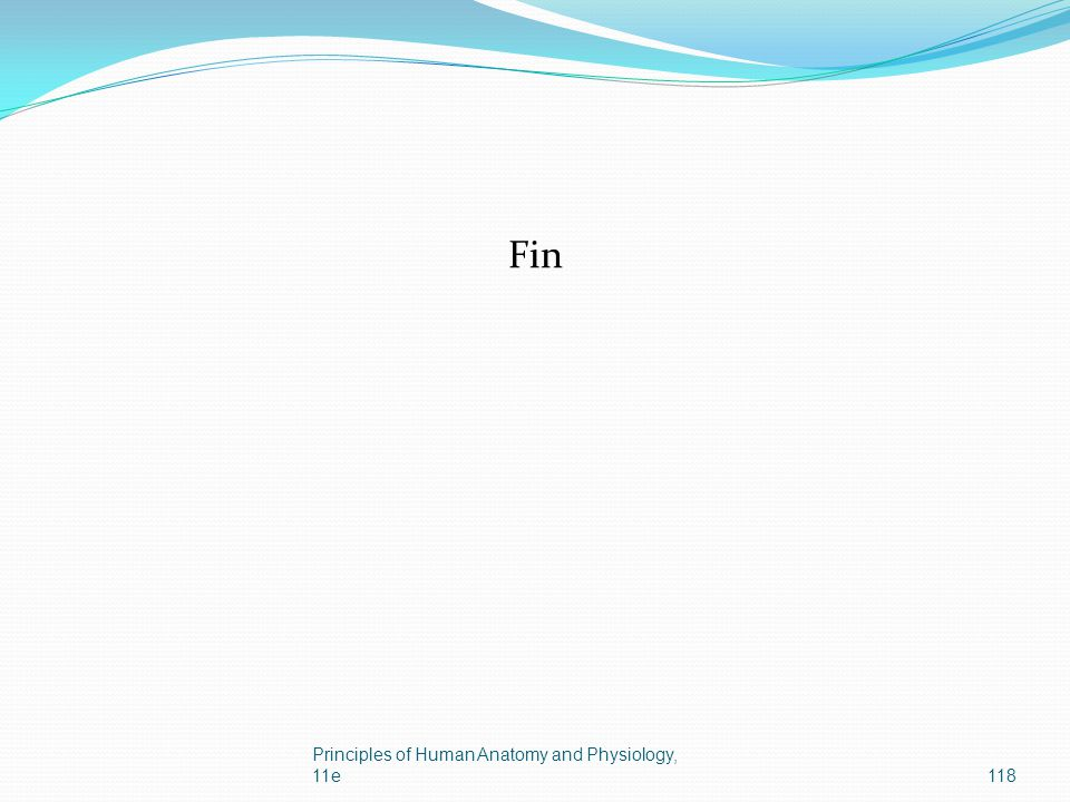 Fin Principles of Human Anatomy and Physiology, 11e