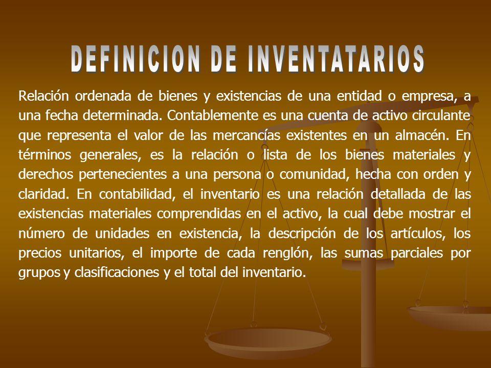 DEFINICION DE INVENTATARIOS