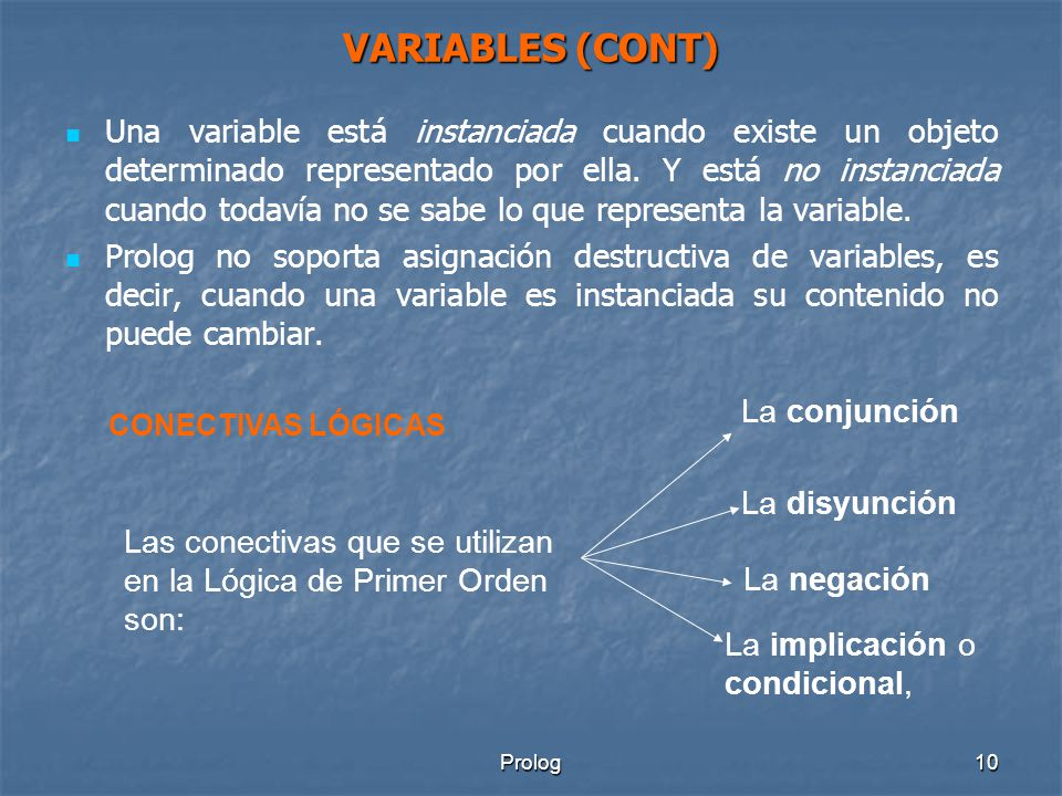 VARIABLES (CONT)