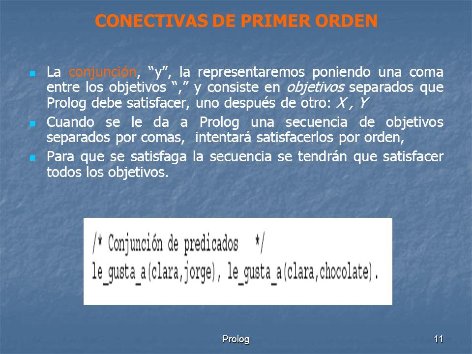 CONECTIVAS DE PRIMER ORDEN