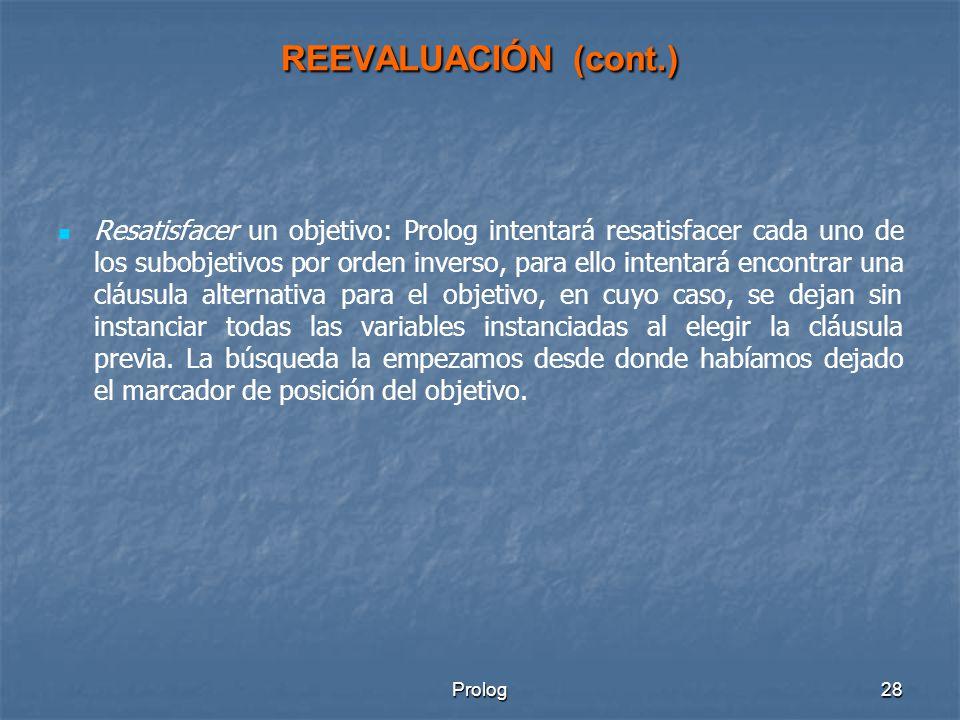 REEVALUACIÓN (cont.)