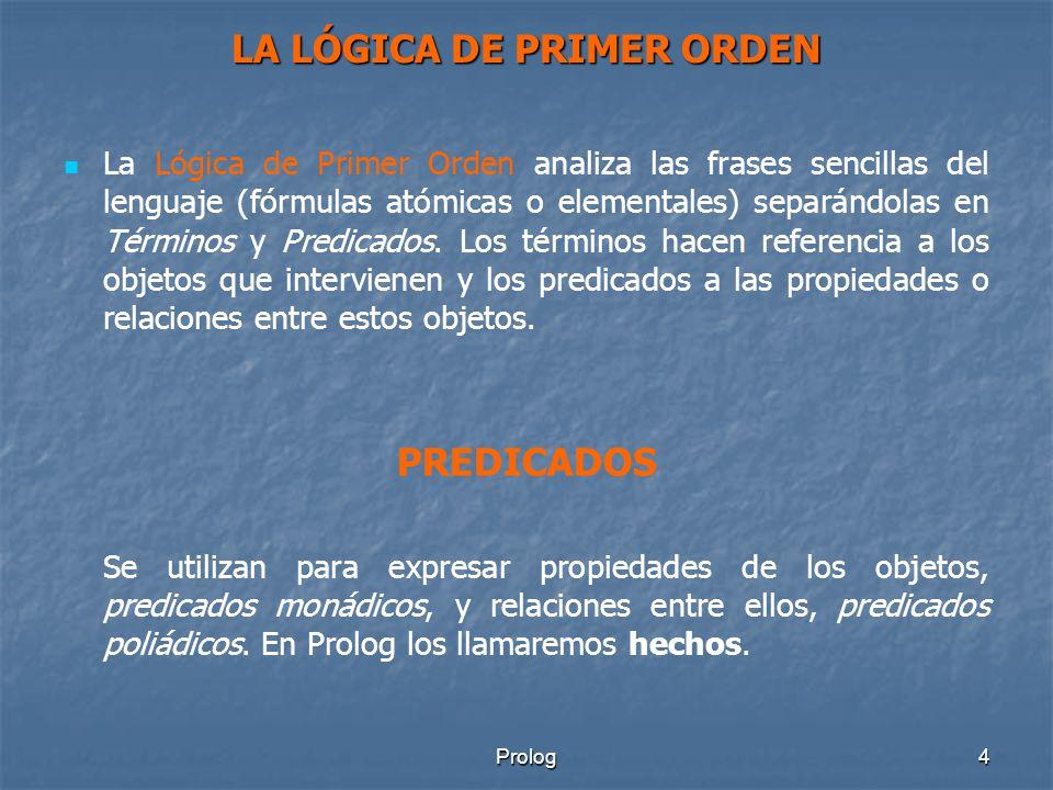 LA LÓGICA DE PRIMER ORDEN