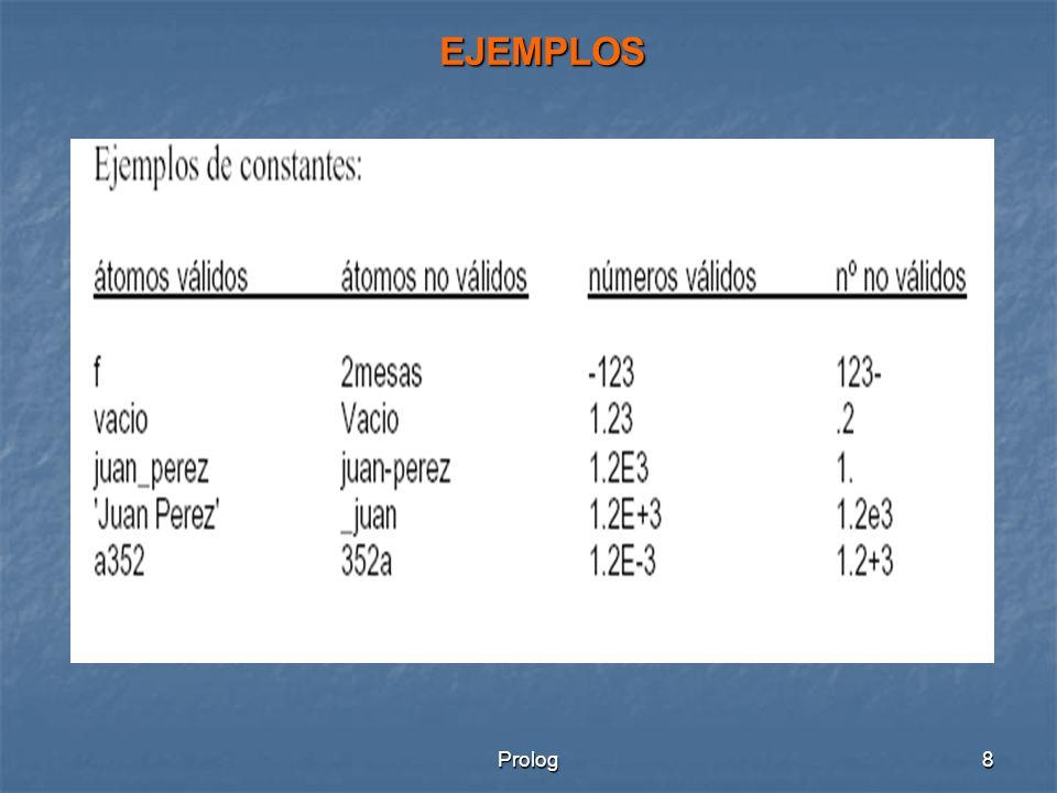 EJEMPLOS Prolog