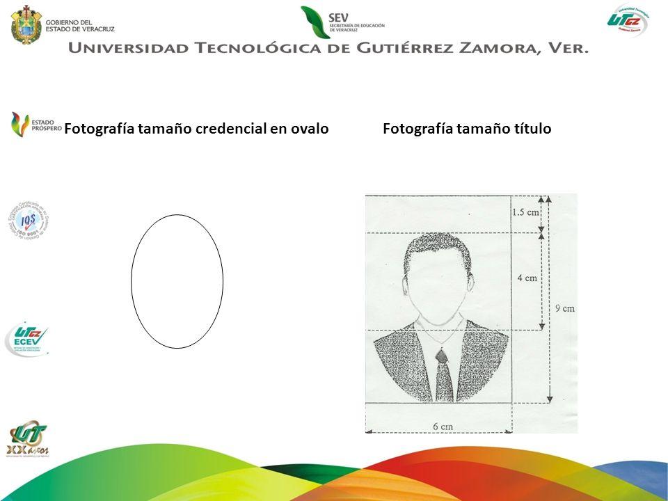 Fotografía tamaño credencial en ovalo