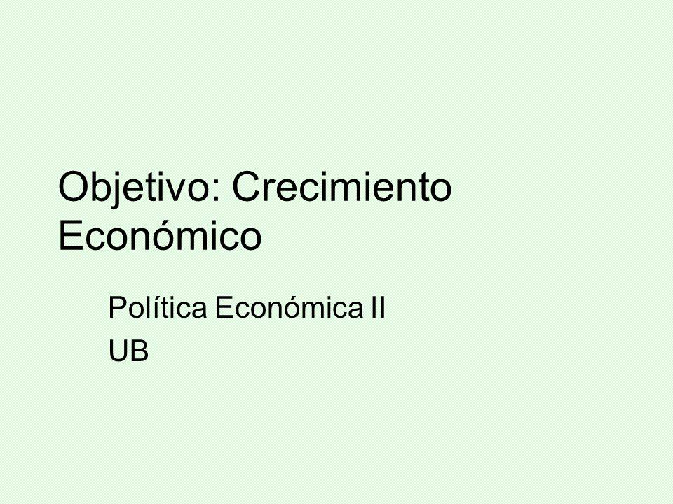 Objetivo: Crecimiento Económico
