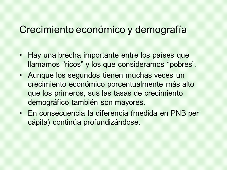 Crecimiento económico y demografía