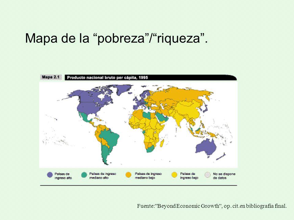 Mapa de la pobreza / riqueza .