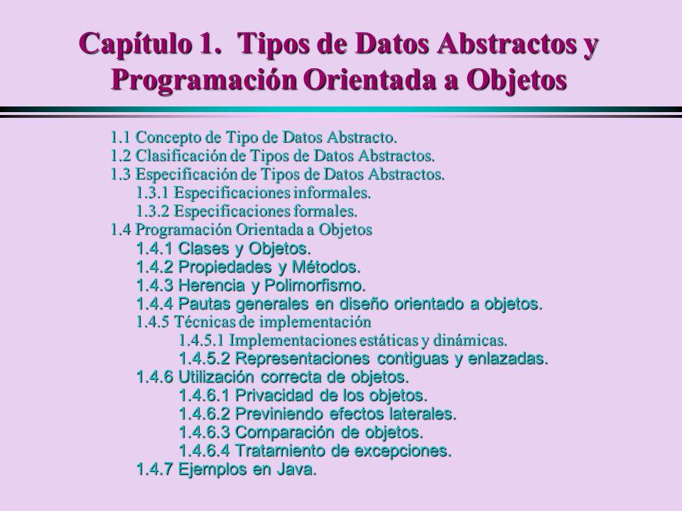 Capítulo 1. Tipos de Datos Abstractos y Programación Orientada a Objetos