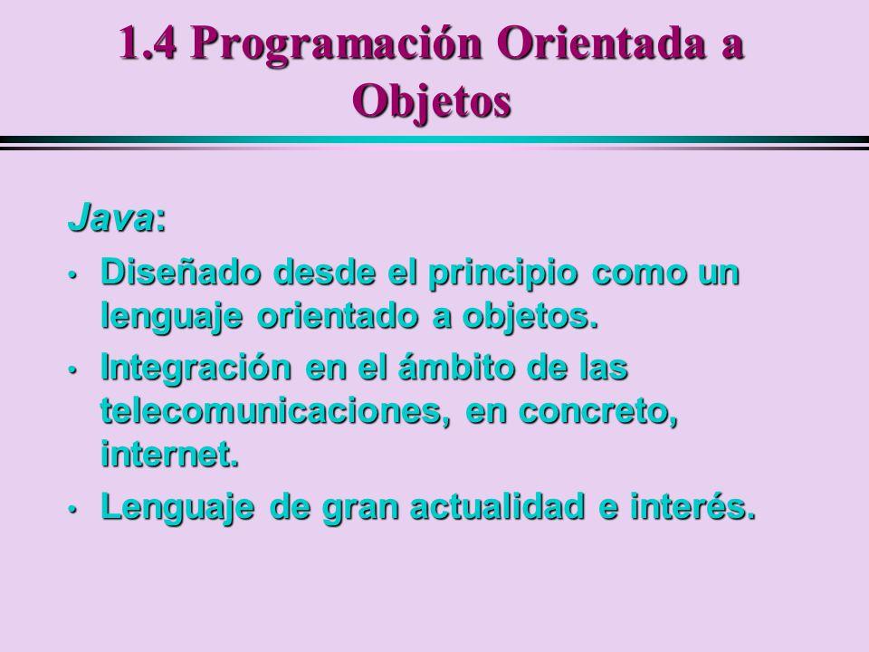 1.4 Programación Orientada a Objetos