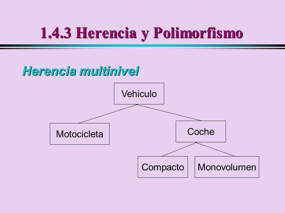 1.4.3 Herencia y Polimorfismo