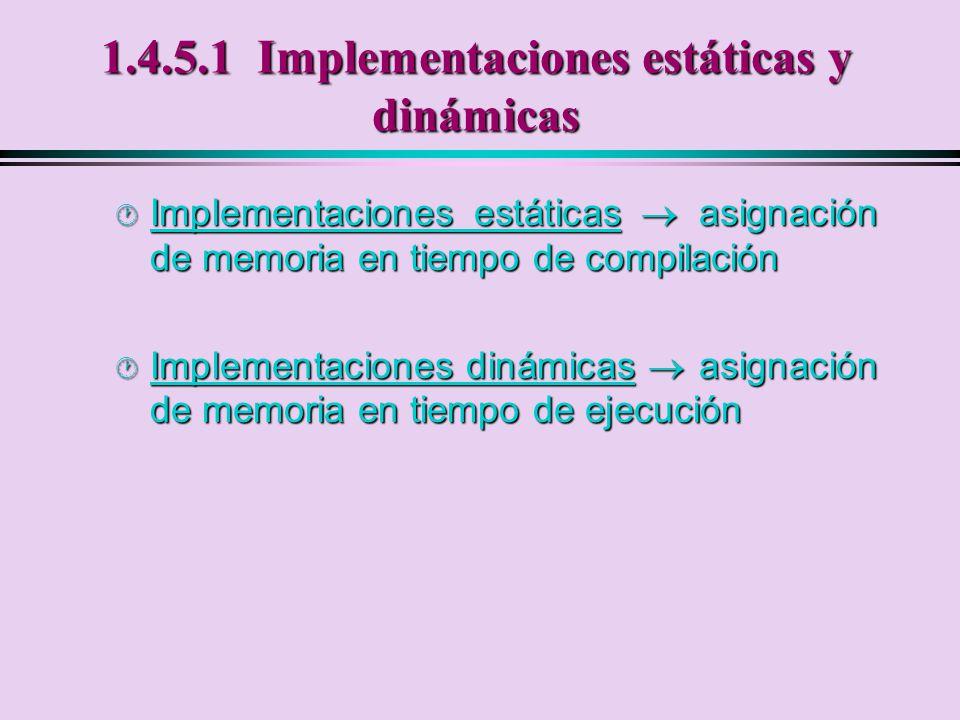1.4.5.1 Implementaciones estáticas y dinámicas