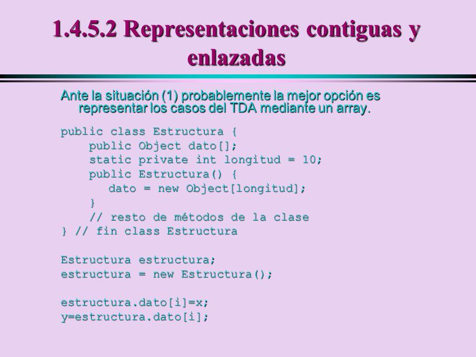 1.4.5.2 Representaciones contiguas y enlazadas