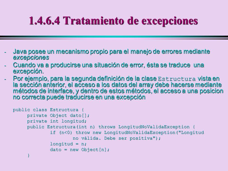 1.4.6.4 Tratamiento de excepciones